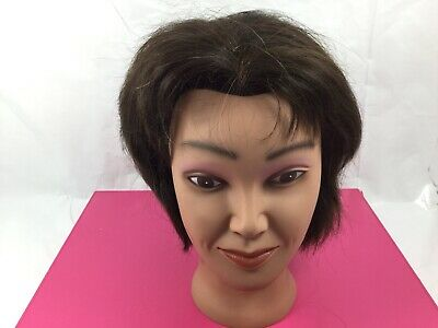 100% Real Human Hair Hairdressing Mannequin Salon Training Head Cosmetology
