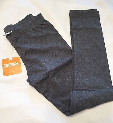 Gymboree NWT M 7-8 Medium Leggings Pants New Gray Active Solid Retail