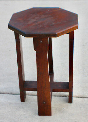 Antique Mission Arts and Crafts Side table Roycroft Stickley Era c. 1900