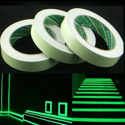 1x Safety Glow In The Dark Luminous Fluorescent Night Self-adhesive Sticker Tape
