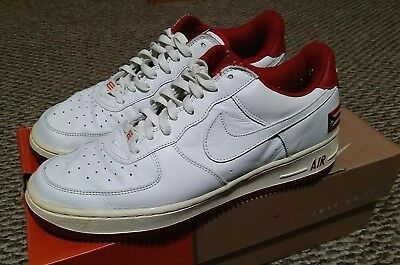 competitive price c7ad3 49734 VTG 2001 Nike Air Force One 1 Puerto Rico 2 PR #2 White Sneakers -