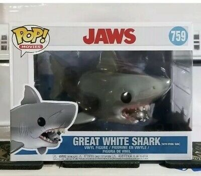 """Funko PoP! Movies JAWS With DIVING TANK 6""""inch #759 Great White Shark IN-HAND!"""