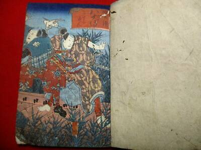 g-51 Japanese KUNIYOSHI22  Two volumes  ukiyoe Woodblock print BOOK