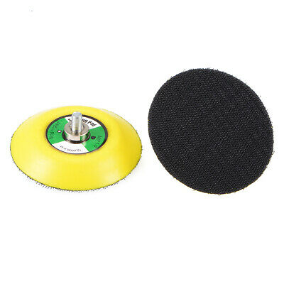 3-Inch Hook and Loop Sanding Pad, M6*10mm Thread, Sandpaper Backing Plate 2 Pcs