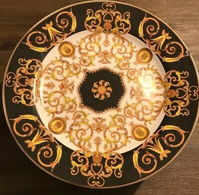 Versace Barocco Ikarus By Rosenthal Footed Cake Plate Platter ~ $785