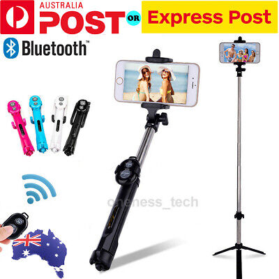 Universal Selfie Stick Handheld Tripod Bluetooth Shutter For iPhone X XS Samsung