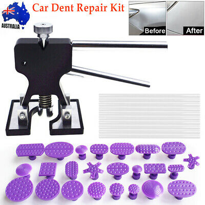 Car Paintless Dent Repair Tool Dint Hail Damage Remover Puller Lifter 35 Tab Kit