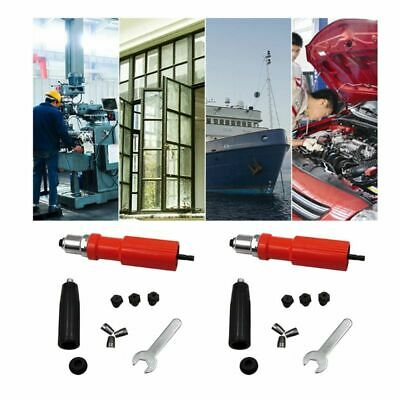 Rivet Gun Adapter Cordless Electric Reveting Drill Nut Riveter Inserts Tools