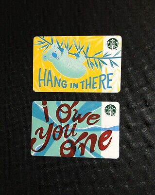 "Canada Starbucks  "" R  "" Marker Gift Card --- Rare -- Lot Of  2 Pcs. -- New"