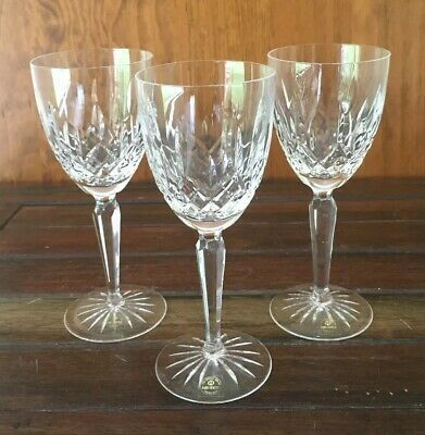 Rogaska Crystal Wine Glasses Handcrafted Yugoslavia 19cm High Excellent Conditin