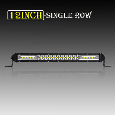 "10""Inch 416W Slim Row Led Work Light Bar Front Topbumper Offroad Lamp 4Wd 12''"