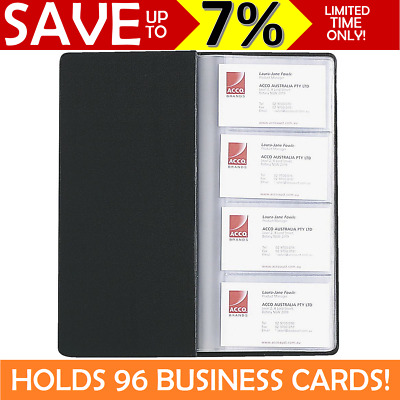 NEW MARBIG Business Card Holder Folio Sleeve Wallet Book Store Black 96 Capacity