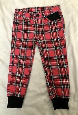 Rock Your Baby Kid Tartan Pants Size 2, Punk, Cool, Hipster, FREE POSTAGE