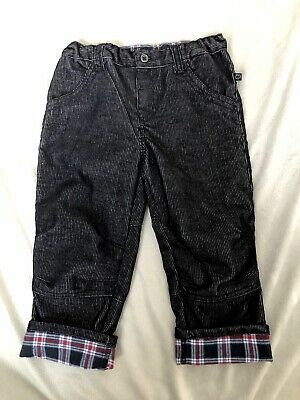 Plum Brother Corduroy Toddler Jeans Size 2, Black,Tartan, Hipster, Punk, Cool!