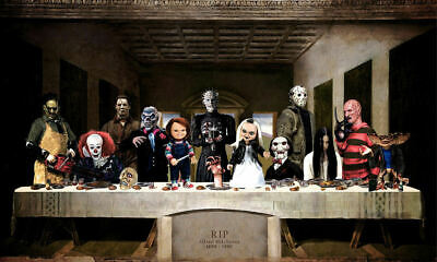 The Last Supper of Horror Movie Art Silk poster 12x18 24x36