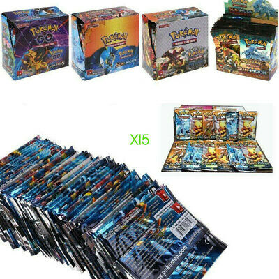 1/324PCS Pokemon Card TCG Booster Box English Edition Break Point 36 Packs Gifts