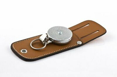 """KEY-BAK Tradesman Retractable Key Holder with 24"""" Stainless Steel Chain with HUS"""