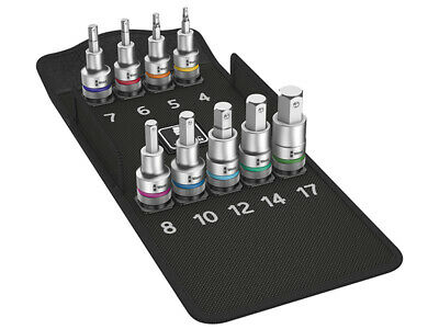 Wera 8740 C HF Zyklop In-Hex 1/2in Drive Bolt Hold Metric Socket Set 10-Piece