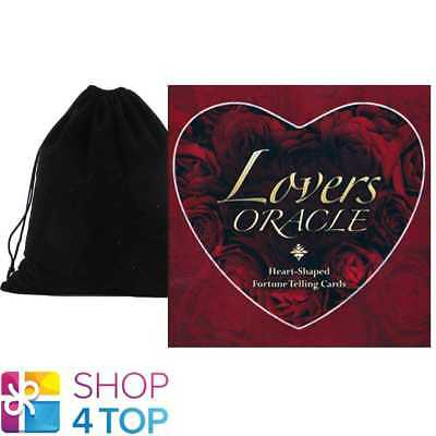Lovers Oracle Deck Cards Esoteric Fortune Telling Blue Angel With Velvet Bag New