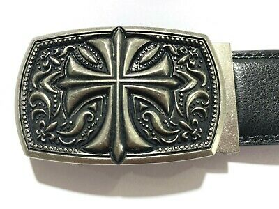 Womens Designer Belts Vintage Gothic Cross Leather Automatic Belt For Women New