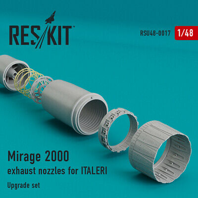 Mirage 2000 exhaust nozzles ITALERI  (Resin Upgrade set) 1/48 ResKit RSU48-0017