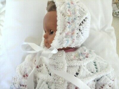 New hand knitted baby matinee set newborn /3 months