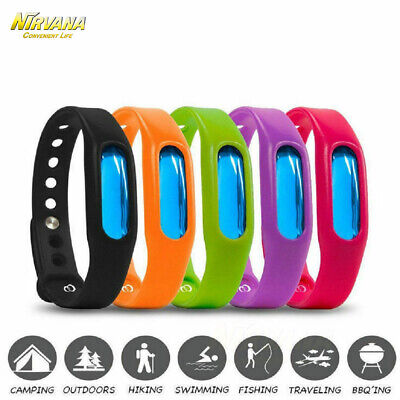 5X Anti Mosquito Pest Insect Bugs Repellent Repeller Wrist Band Bracelet New