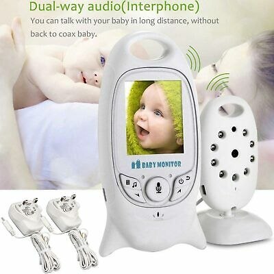 Video Baby Monitor Night Vision Camera 2 Way Audio System Baby Safety Security