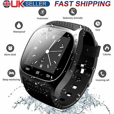 Mens Smart Watch Waterproof Sports Fitness Outdoor Bluetooth Electronic Watch UK