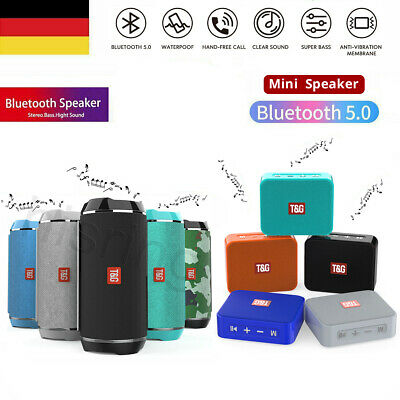 Wireless Bluetooth Lautsprecher 3D Stereo Subwoofer PC Handy Musikbox AUX FM SD