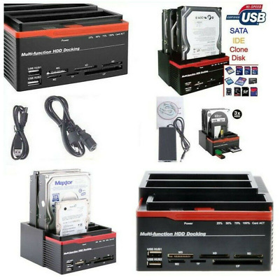 Dock Docking Station Triplo 3 Hard Disk Hdd Usb 2.0 Multifunzione Sata Ide Ata