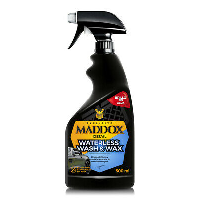Maddox Detail - Waterless Wash & Wax - Cera Carnauba Limpieza Sin Agua.