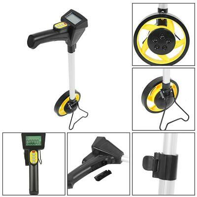 Distance Measuring Wheel With Stand Foldable Surveyors Builders Road Land New