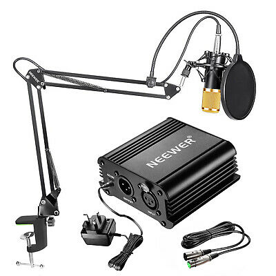 Neewer NW-800 Condenser Gold Mic Microphone Kit for Home Studio Recording