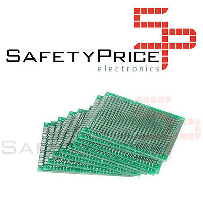 2 Plates Prototyping Double Sided 6x8cm - Double-Side Prototype PCB Fibre Glass