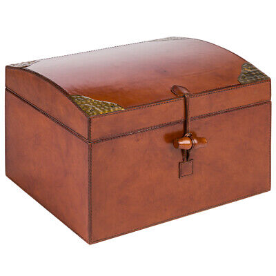 NEW Rossini Leather Oval Top Display Box