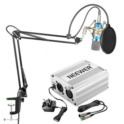 Neewer NW-700 Condenser Microphone Kit - Mic(Blue) for Home Studio Recording