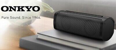 Onkyo X6 Wireless Bluetooth Portable Stereo Speaker Mic & USB Charge Port Black