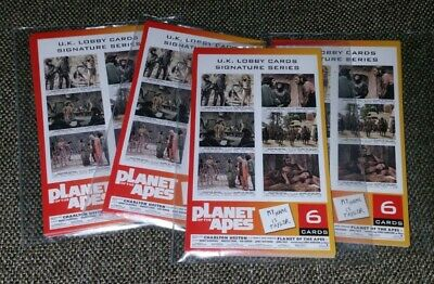 Planet of the Apes Collector's Ed Lobby Cards Signature Series in sealed packet.