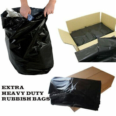 EXTRA HEAVY DUTY 200G Refuse Sacks Strong Bin Liners | Rubbish Bags