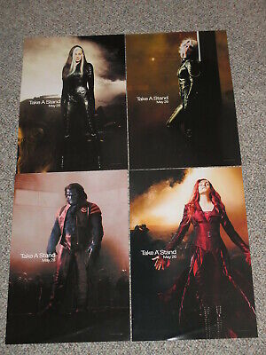 X-Men III The Last Stand Mini Movie Wall Posters Lot of 4 Jean Rogue Beast Storm