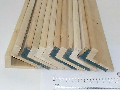 12 Rosenholz L' Form Holz Mouldings. Massivholz Timber. 55 X 24mm 2986