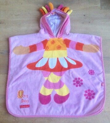 Mothercare 1-2 years girl towelling robe poncho hooded swimming bath Upsy Daisy