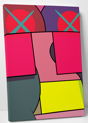 Kaws ups & downs digital art print canvas (2) 11x14 holiday chum kawsbob kimpson