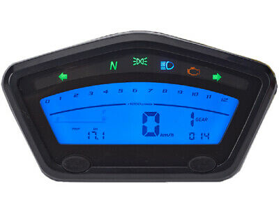 odometer and speedometer for cafe' racer with assembly instructions black