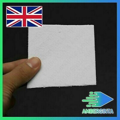 50pc 8x8cm Bullseye Hot Pot Thinfire Kiln Paper for DIY Glass Fusing UK