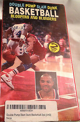 Charles Barkley Double Pump Slam Dunk Basketball Bloopers Blunders VHS Video 2-P