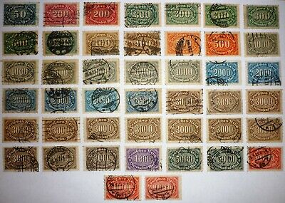 Deutsches Reich. 1921/23. MIXED lot INFLATION. 50M - 100000M. 44 stamps. USED.
