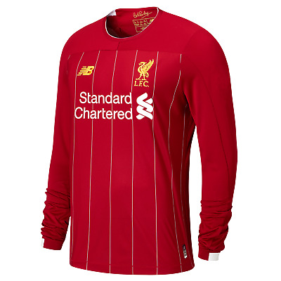 Liverpool FC Official Home Mens Long Sleeve Replica T-Shirt 2019/20
