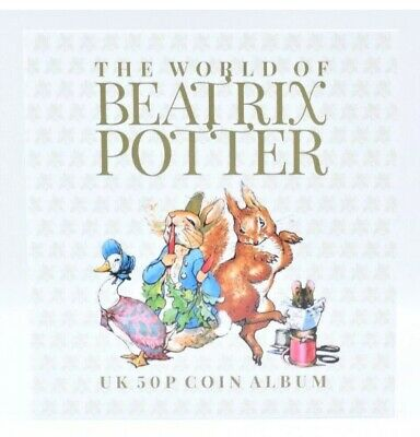 NEW Beatrix Potter Peter Rabbit 50p Fifty Pence 13 Coin Hunt Album  2016 - 2018